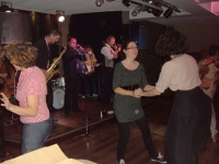 Lindy Hoppers dancing to the Second Line Jazz Band